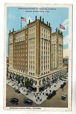 Sheridan Plaza Hotel - Chicago Postcard 1922