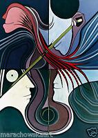 "HIGH QUALITY POSTER ""CELLO"" MARACHOWSKA ART 40x30 cm NEW!"