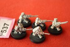 Juegos taller Warhammer 40k Astra Militarum Ratlings francotiradores escuadrón de metal x5 fuera de imprenta