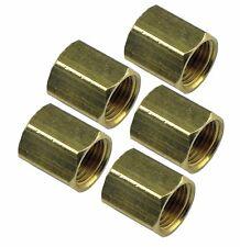"""3/8-24 Inverted Flare Union For 3/16 """" Brake Line UN01 Brass 43375 BLU-7C 5pc"""