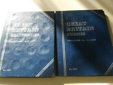 2 Vintage Whitman Great Britain Halfpennies/pennies  Collection Coin Book Folder