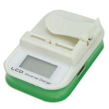 Universal Li-ion Lithium-ion Battery Wall Travel Charger w/ LCD & USB Port Green