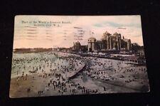 Antique Atlantic City Postcard Postmarked 1919 World's Greatest Resort