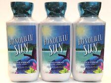 Lot 3 Bath & Body Works Honolulu Sun Body Lotion Cream 8 Fl Oz Shea Vitamin E