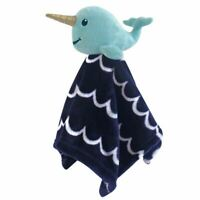 Hudson Baby Boy Baby Security Blanket, Boy Narwhal