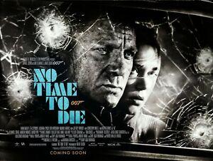 "NO TIME TO DIE 2019 repro UK teaser quad poster 30x40"" James Bond Daniel Craig"