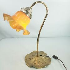 Floral Flower Whimsical Plug In Small Table Lamp Working