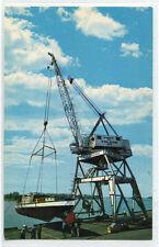 Big Lucas Boat Crane Port of Toledo Ohio postcard