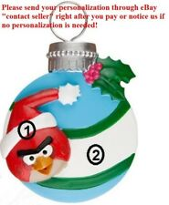 CHILD KID GAME ANGRY BIRD RED BIRD CARDINAL PERSONALIZED CHRISTMAS TREE ORNAMENT