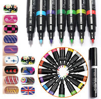 6 Colors Nail Art Pen Painting Design Tool Drawing Gel Polish Easy Home Kit