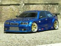 0020 - Carrozzeria body RC 1/10 BMW M3 drift touring rally legend+spoiler