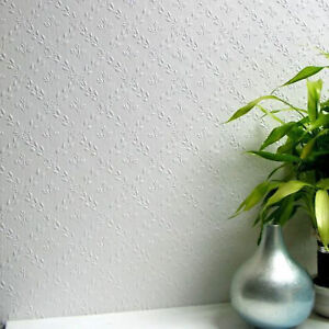 Paintable Flower Wallpaper Duplex Embossed Textured Luxurious Hamnett Anaglypta