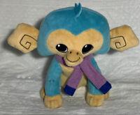 "Fingerlings Animal Jam Funky Monkey Plush 7"" Blue Purple Scarf"