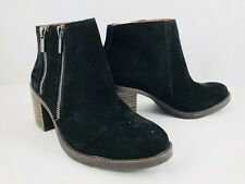 Lucky Brand Roquee Moc Toe Leather Black Women's Boot Size 6