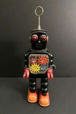 Yoshiya High Wheel Robot 4 Cogs Wind Up Tin Mechanical Japan 1967