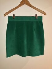 81eb23bddd Vintage Danier - Green Suede Leather Skirt - Size 8 Made in Canada -  Tailored