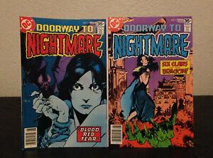 Doorway to Nightmare #3 & #4 (1978 DC) Madame Xanadu • Vintage Horror