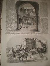 Algiers Algeria barracks of Janissaries and wall of city 1858 prints