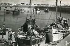 QUIBERON LOT 3 Cartes de PORT MARIA Bateaux Pêche près Môle Port Coucher soleil