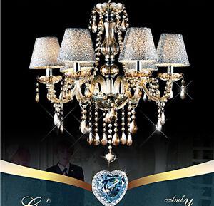 Luxury Chandelier Fashion Crystal Lamp 6 Heads light Modern Pendant Lights