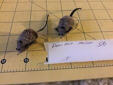 Deer hair Mouse  bait fly 5/0 bass northern game fish bead eyes
