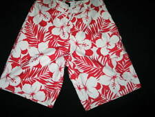 Gap Floral red and white board shorts 100% Acrilyc Small new with tags