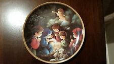 "Precious Moments ""Come Let Us Adore Him"" Hamilton Bible Story Collection Plate"