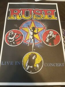 Rush Live In Concert Poster Hand numbered #481/5000 limited Time Machine VIP