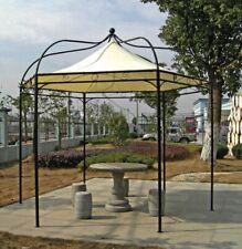 Luxus Pavillon Modena 6 eckig Stahlgestell wasserdichte Dachbespannung Garten