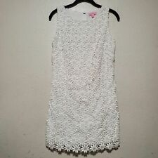 Lily Pulitzer white lace floral shift dress spring daisy baby shower wedding