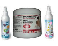 Pasta di Zucchero Depilazione Ceretta+Precera Acidi frutta+Olio dopocera Azulene