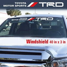 Toyota TRD Windshield Tacoma Tundra off road Racing 4x4 Decal Sticker Vinyl W7