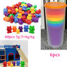 1Kit Counting Bears with Stacking Cups Rainbow Matching Game Educational @nue