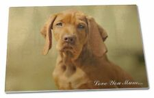 Hungarian Vizsla Dog 'Love You Mum' Extra Large Toughened Glass Cu, AD-V2lymGCBL