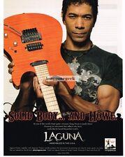 2008 LAGUNA Electric Guitar GREG HOWE Advertisement