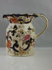"Masons Ironstone Blue Mandalay Fenton Jug 5 1/2"" High"