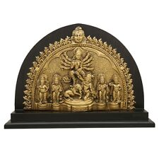 Goddess Durga Brass Idol Adishakti Shiva Ganesh Kali Statue Handmade Souvenir
