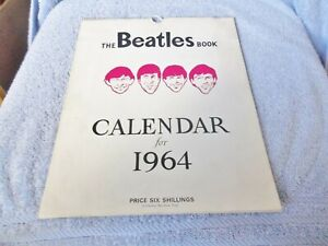 THE BEATLES BOOK CALENDAR FROM 1964 COMPLETE NEAR MINT STILL WITH COVERS A4 SIZE