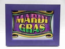 5x7 Purple Mardi Gras Wood Picture Photo Frame 5 x 7 New