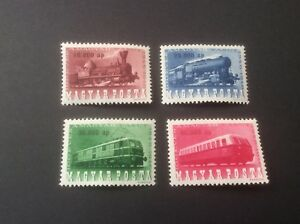 Hungary Stamps SC# 785-88 Centenary of Hungarian RR's MH 1946