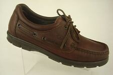 Dexter Navigator Men's Brown Leather Boat Deck Oxford Shoe Made in USA Size 8 WW
