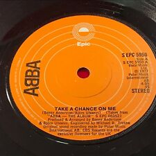 """ABBA Take A Chance On Me 1977 UK 7"""" vinyl single EXCELLENT CONDITION"""