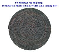 US 10M(33Ft)/5M(16Ft) 6/10mm Width GT2 Timing Belt For RepRap 3D Printer Prusa