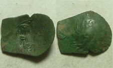 Ancient BYZANTINE coin Trachy Latin Rulers of Constantinople Christ cross Mary