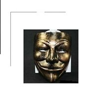 Anonymous Antique Gold Color Guy Fawkes Mask anon 4chan