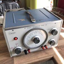 VINTAGE ADVANCE INSTRUMENTS J1b OSCILLATOR Audio FREQUENCY AF SIGNAL GENERATOR