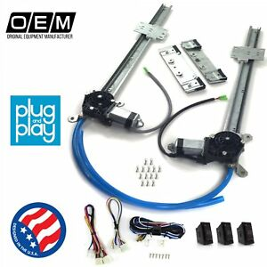 Ford Truck Early F1 1942 - 1947  Power Window Regulator Kit w/ 3 LED Switches v8