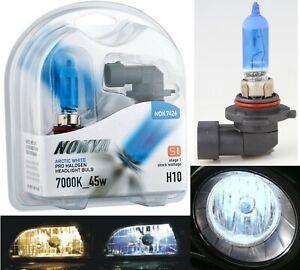 Nokya 7000K White H10 9145 Nok7426 45W Two Bulbs Fog Light Replace Plug Play OE