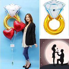 84 * 54 cm anillo de diamante Globo de helio para cumpleaños compromiso boda