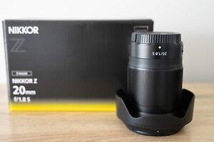 MINT CONDITION Nikon NIKKOR Z 20mm f/1.8 S Mirrorless - suit new buyer